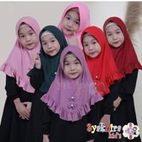 Jilbab Hijab Polos Anak Sekolah SD Rempel Pita Original Syakhira Kids