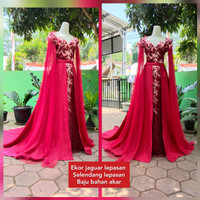 baju wedding modern marokn akar ekor