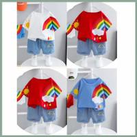 Setelan Baju Bayi / Anak - Pelangi - S