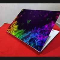 Meeratech Garkin skin stiker pelindung laptop Work from Home abstrak