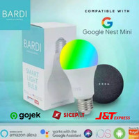 BARDI Smart Home Light Bulb LED 9w RBG+WW Wifi for Google, Alexa, Siri