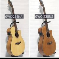 Gitar cowboy akustik elektrik GWC-235 eq Tuner layar