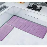 Memory Foam Mat Set 2 in 1 / Keset Kaki Anti Slip Rumah Dapur