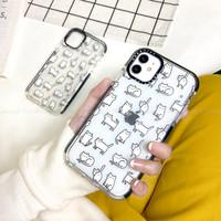 Casetify HQ Cat White Case Iphone 6 6+ 7 7+ X XS MAX XR 11 PRO MAX