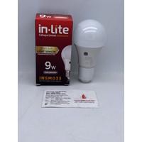 LAMPU LED SENSOR CAHAYA 9W 9 W 9WATT 9 WATT INLITE IN-LITE