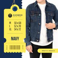 Jaket jacket jeans denim pria cowok original 5 varian warna