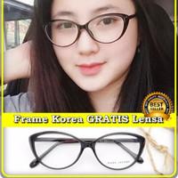 kacamata korea cat eyes gratis lensa minus plus silinder anti radiasi