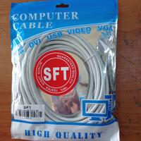 Kabel LAN UTP 5M RJ45 Cat 6 5 meter Terpasang Cable Konektor Cat6