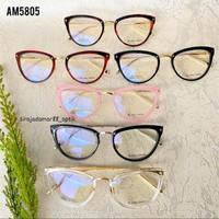 kacamata baca wanita cat eyes AM-5805 free lensa plus/minus/silinder