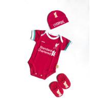 Jumper Bayi Karakter Club Liverpool Set Topi Kupluk Sepatu Bayi