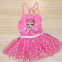 Dress Anak LOL Surprise Pink Size 7-8 Tahun Original