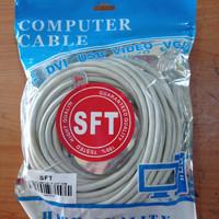 Kabel LAN UTP 10M RJ45 Cat 6 10 meter Terpasang Cable Konektor Cat6