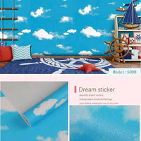 Wallpaper Sticker Awan Biru Langit