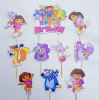 topper hiasan kue cake ulang tahun happy birthday karakter dora