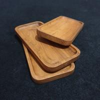 Recta coaster coffee tray tatakan gelas 10cm x 21cm kayu jati grade A