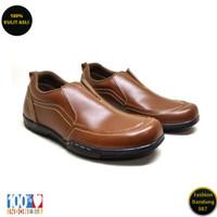 Sepatu kasual pria kulit asli model slip on premium AVD 06