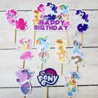 topper cake kue ulang tahun karakter kuda poni my little pony mermaid