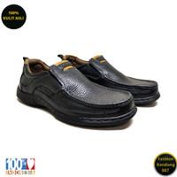 Sepatu kasual pria kulit asli model slip on premium KZ 07