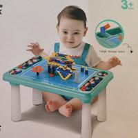 Mainan Meja Lego Building Block Learning Desk