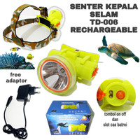 SENTER KEPALA SELAM HEADLAMP DIVING LED WATERPROOF TD-006