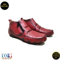 Sepatu kasual boots terbaru original kulit asli motif kulit buaya