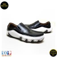 Sepatu kasual pria sol tanam kulit asli model slip on premium AVD 01p