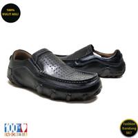 Sepatu kasual pria sol tanam kulit asli model slip on premium AVD 06