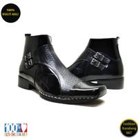 Boots formal pria bahan kulit asli boots premium PRB 04