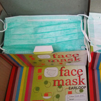 Masker 3ply facemask Earloop isi 50pcs/box