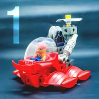 Mainan lego transportasi dawter kendaraan kapal selam 4 in 1 education