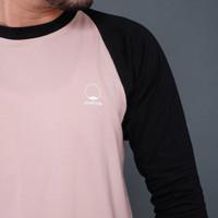 Raglan 3/4 Dusty Pink/Black