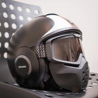 Helmet Shark RAW Stripe Size L Helm urban biking Preloved Goggless