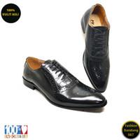Sepatu formal pria tali lancip bahan kulit asli /Oxford/premium KS 03