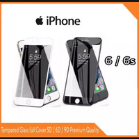 TEMPERED GLASS IPHONE 6 / 6S FULL COVER ANTI GORES KACA 9D 11D 5D 6D