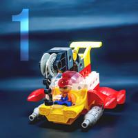 Mainan lego transportasi dawter pesawat terbang 4 in 1 education