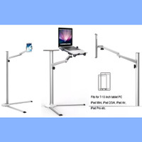 Floor Stand Height Adjustable:Laptop-Ipad/Tablet-HP, 4Holders Included
