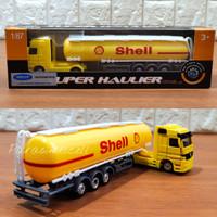 Diecast Welly Truk Tangki Shell Miniatur