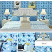 wallpaper stiker dinding Stitch dsar biru