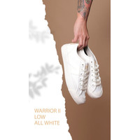 LOCAL BRAND SHOES ARL BY HARDWARE SEPATU LOW WARRIOR II ALL WHITE