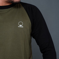 Raglan 3/4 Green/Black