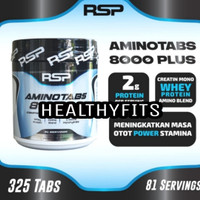 Suplemen Fitness NSP AMINO Tabs 8000 plus 325 tablets (Free shaker)
