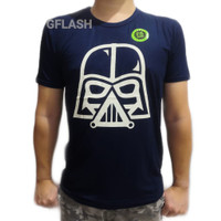 Baju Kaos Glow in the Dark Star Wars Tshirt Darth Vader M-XXXL Rhymes