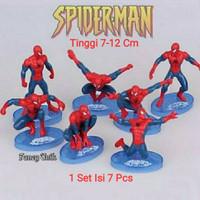 Action Figure Mainan Topper Kue Spiderman Set Isi 7