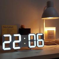 Jam Dinding Meja Korea Aesthetic 3D Clock LED