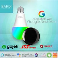 BARDI Smart Light Bulb 9w RGBWW + IR Remote Support Google Nest Mini