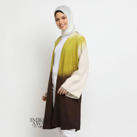 Outer Panjang Gradasi Kuning - Emikoawa Cape Wanita Muslim Cardigan