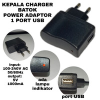 KEPALA CHARGER POWER ADAPTOR BATOK CHARGER 1 PORT USB