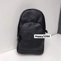 Coach Charles Sling Bag In Smooth Black Leather - ORIGINAL GUARANTEE