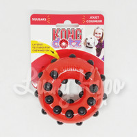 Mainan Anjing/ Dog Toys KONG Squeaks Dotz Circle Small TDD31