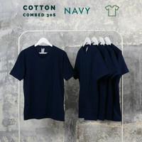 Kaos polos pria katun kaos polos kaos polos combet 30s Navy